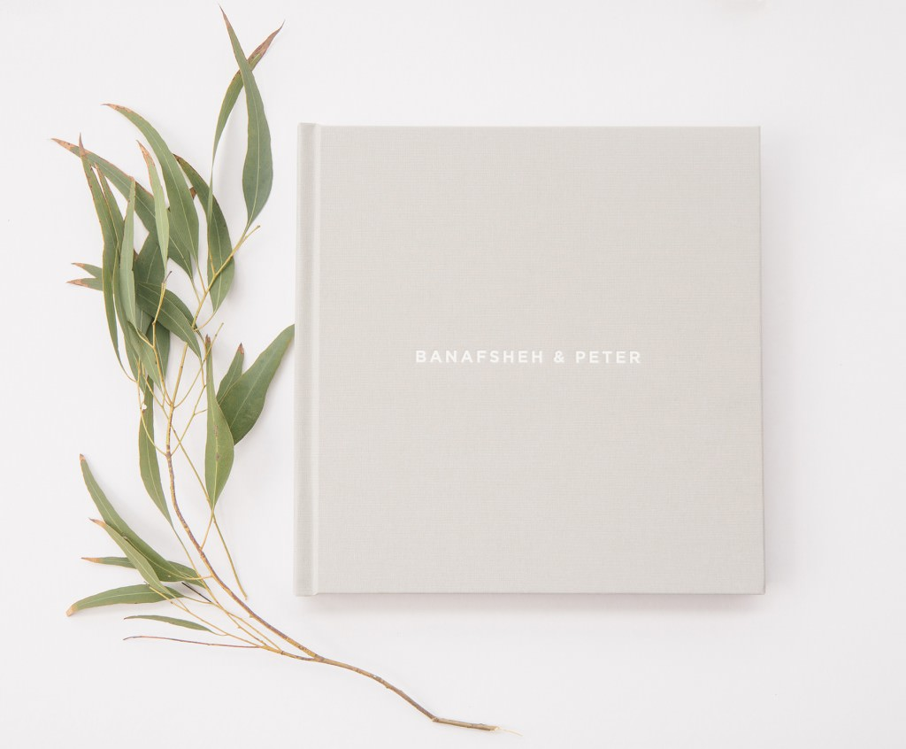 wedding album by Maui wedding photographer www.melialucida.com #weddingalbum #grey #embossing
