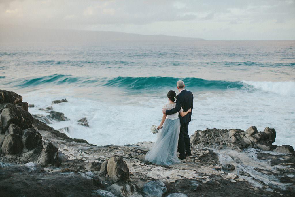maui wedding in ocean colours www.melialucida.com #blue #sea #maui #photography