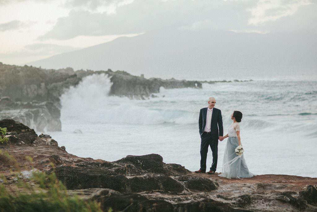 wedding portraits kapalua maui www.melialucida.com #maui #blue #wedding